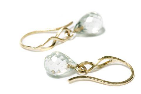 Kaprifol Earring Gold Prasiolite