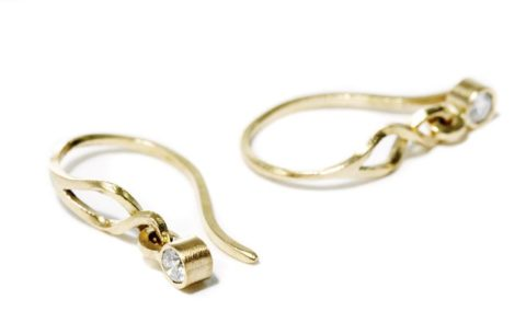 Kaprifol Earrings Gold Diamonds