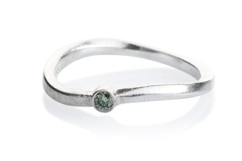 Kaprifol Ring Silver Diamond